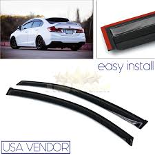 Honda Civic Usa Fit 12 15 Honda Civic 2 Door Usa Window Wind Deflector Rain Guard