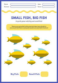 yellow and blue fish math games worksheet templates by canva