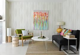 minimalist retro interior design with arco style floor lamp and