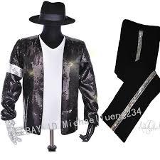 Michael Jackson Smooth Criminal Halloween Costume Classic Mj Michael Jackson Billie Jean Sequin Black Jacket Costume