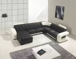Black And White Sofa Set Designs Leather Sectional Sofas To Complete Your Living Room Image