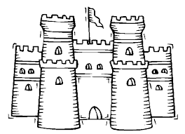 Sand Castle Coloring Pages Coloringstar Sandcastle Coloring Page