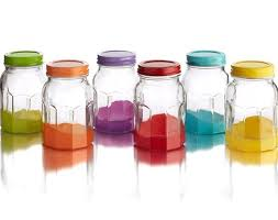colorful kitchen canisters color jars set of 6 4 styles