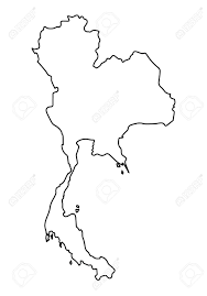 thailand vector map abstract outline of thailand map royalty free cliparts vectors