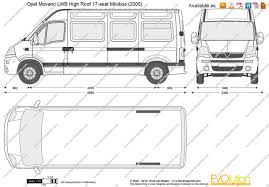 opel movano 2008 the blueprints com vector drawing opel movano lwb high roof 17