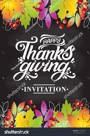 happy thanksgiving beautiful inscription lettering design stock
