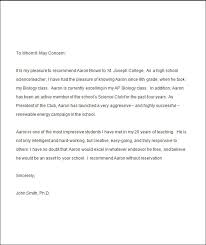 Sample Of Reference In Resume by Sample College Recommendation Letter For High Student