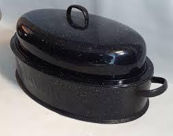 savory roaster vintage oval savory roaster roasting pan lid enamel