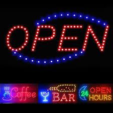 shop open sign lights led business sign ebay