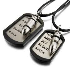 his and hers dog tags buy alloy rubber pendant necklace black army name dog tag biker 27