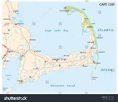 cape cod road map stock vector 339277448 shutterstock