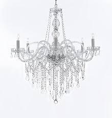 All Crystal Chandelier Murano Venetian Style All Crystal Chandelier H38