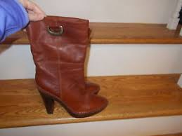 womens brown leather boots size 9 nike air g series weiss s brown leather boots size 9 eu ebay