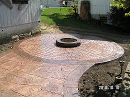 Stamped Concrete Patio Designs Pictures by Cost For Concrete Patio Overlay Poured Fabulous Decorative