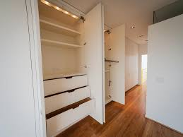 modern built in closet drawers with pure white three drawer and