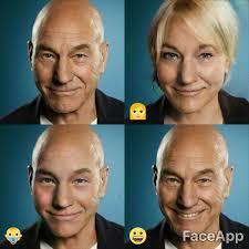 Meme Face App - patrick stewart faceapp know your meme