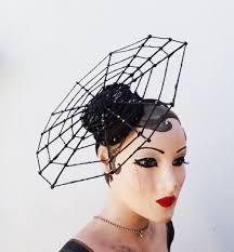 halloween costume spider hat spider web fascinator witch