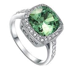 rings with crystal images Vogem simulated emerald ring green big crystal 18k jpg