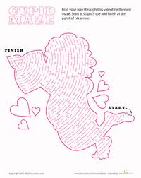 valentine u0027s day maze worksheet education com