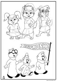 alvin chipmunks coloring pages 04