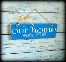 personalized housewarming gifts our home sign established date plaque housewarming gift cool