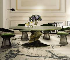 how to place a rug with a round dining table