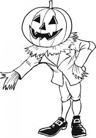 halloween scarecrow coloring pageskids coloring pages