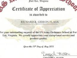 13 military certificates templates custom designed military