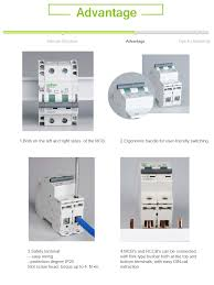 leakage protective rccb electrical residual current micro mccb