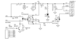 dc solid state relay using mosfet u0026 optically isolated gate driver