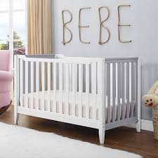 Gray Convertible Cribs by Dorel Baby Relax Aaden 3 In 1 Convertible Crib White Grey Da6564c