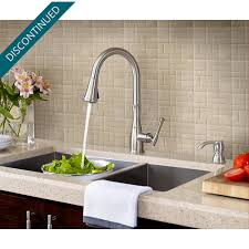 stainless steel wheaton pull down kitchen faucet gt529 whs