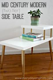 mid modern two tier table makeover