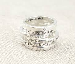 personalized rings for dainty stacking ring personalized ring inspirational ring