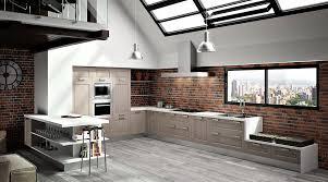 cuisine chaleureuse contemporaine cuisine moderne grise hygena interieur cuisine