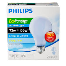 Natural Light Philips 226993 72 Watt A19 Halogen Light Bulb Natural Light