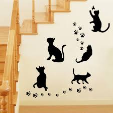 Decoration Cat Wall Decals Home by Compare Prices On Wall Decor Black Cat Online Shopping Buy Low