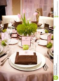 Wedding Reception Table Settings Table Setting At A Luxury Wedding Reception Stock Photo Image Of