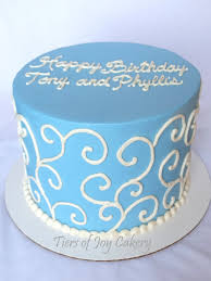 Soft Blue Color Birthday Cakes Images Simple Blue Birthday Cakes Ideas Blue