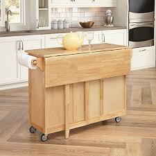 kitchen island cart with stainless steel top home styles 5089 95 kitchen center with breakfast bar