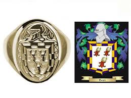 Family Crest Flags Gents 10k Gold Family Crest Signet Ring