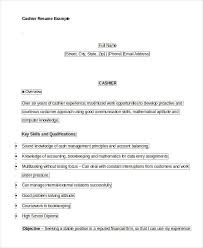 Example Of Cashier Resume cashier resume example 6 free word pdf documents download