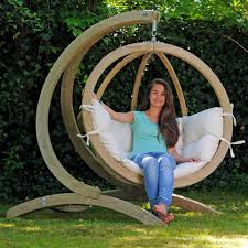 Wooden Garden Swing Chair Amazonas Globo Wooden Hanging Swing Chair With Stand Internet