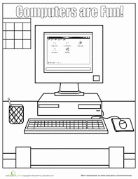 Computer Lesson Worksheets Computer Coloring Pages Coloring Worksheets Worksheets And