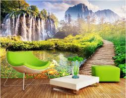 3d wallpaper custom photo mural mountain bridge scenery landscape 50