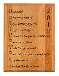retirement plaque wording retirement gifts for women or men retirement 2018