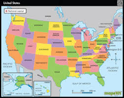 political us map primary level united states political united states wall map from