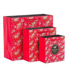 s day shopping 5pcs beautiful flower gift paper bag packaging shopping