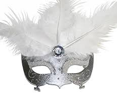 miniature masquerade mask ornament with magnet one set