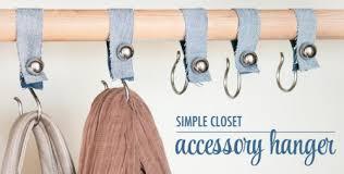 diy shower hook closet organizers shelterness